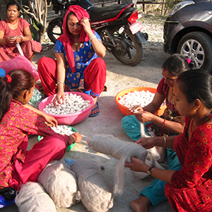 women-employment-Friendshandicraft-Folknepal-fairtrade-Fairmonkey-Nepal-feltball